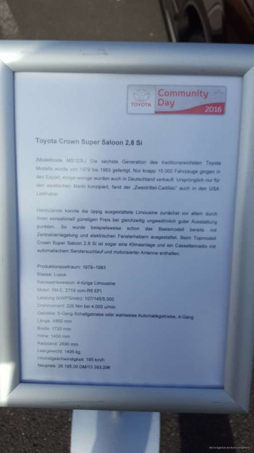 Toyota Community Day 2016