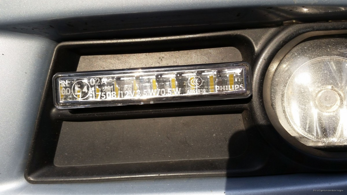 Tagfahrlicht Corolla Verso mit Philips LED Daylight 9