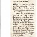 Zeitung Waschstrasse
